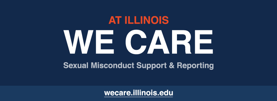 We Care graphic.